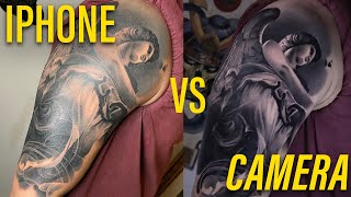 How to Photograph your Tattoos || IPHONE vs CAMERA screenshot 5