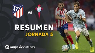 Resumen de Atlético de Madrid vs RC Celta (0-0)