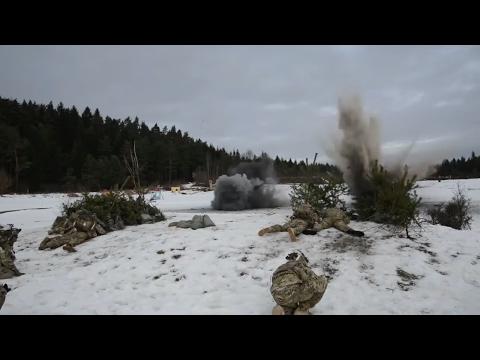 US Paratroopers Train Near Russian Border of Kaliningrad