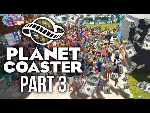 Planet Coaster Gameplay Walkthrough Part 3 - MAKING LOT'S MONEY (Challenge)