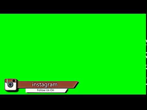 FOLLOW ON INSTAGRAM SOCIAL MEDIA GREEN SCREEN TEMPLATE HD FREE DOWNLOAD