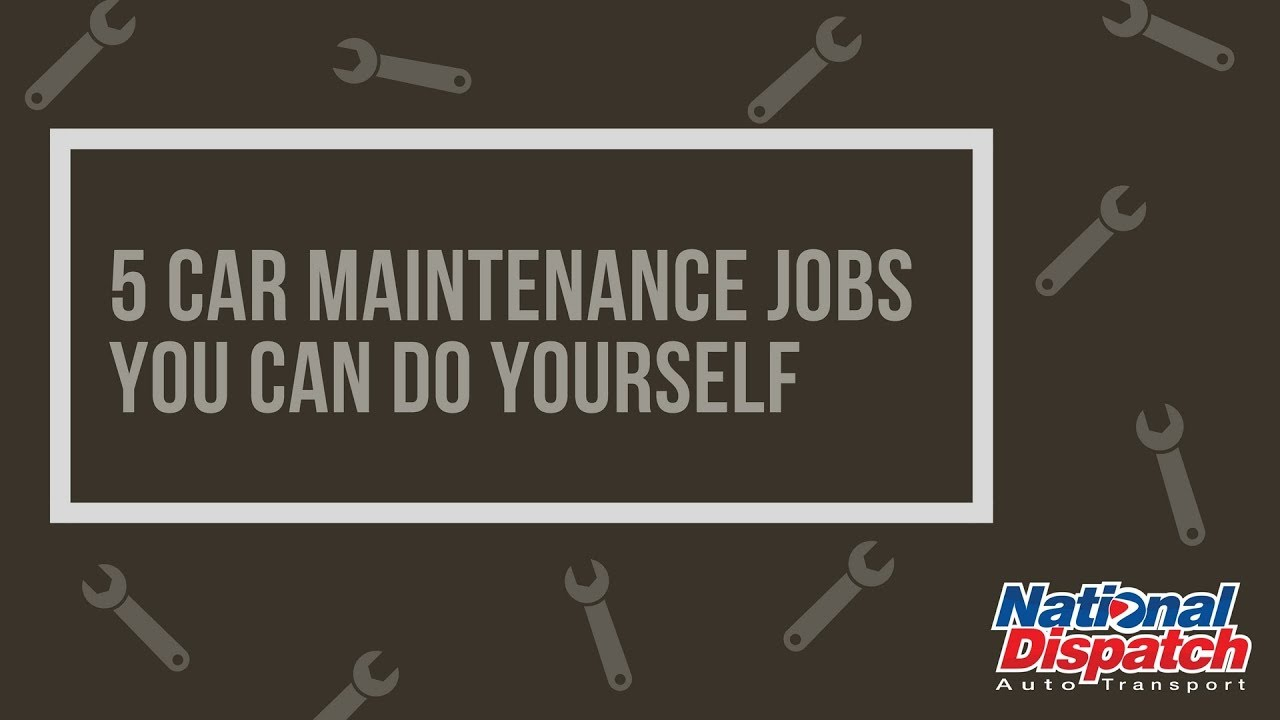 5 car maintenance jobs you can do yourself national dispatch youtube 5 car maintenance jobs you can do yourself national dispatch solutioingenieria Image collections