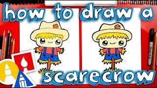 Learn how to draw a funny cute scarecrow! ART SUPPLIES we love (Ama...