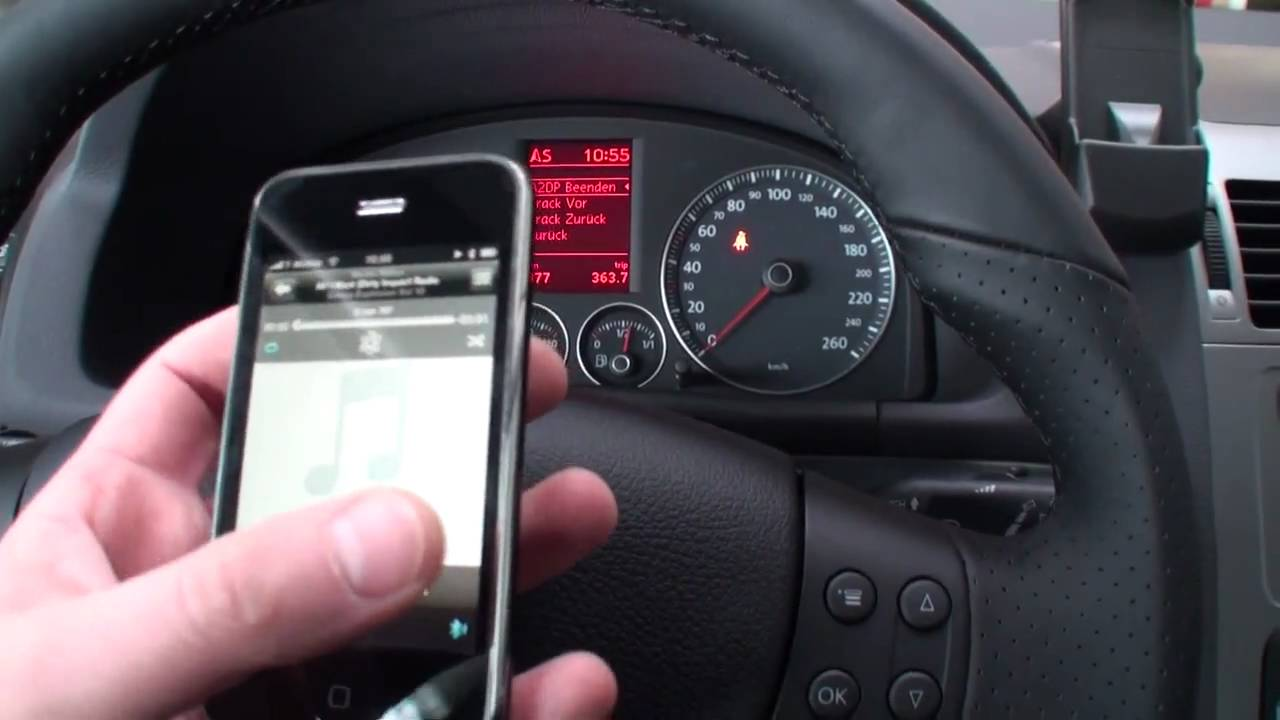 Zemex V4 Conexx Bluetooth Handy iPhone Android Freisprechanlage VW RNS 510 - YouTube