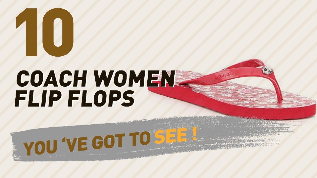 c7a70198487e Coach Women Flip Flops    New   Popular 2017 - YouTube