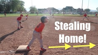 ⚾️BOY STEALS ALL THE WAY HOME IN BASEBALL GAME!