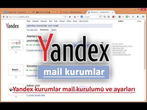 Yandex Kurum Mail Hizmeti Kullanımı - YouTube