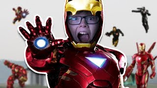 I'M IRON MAN!! LETS BATTLE!!! - Roblox