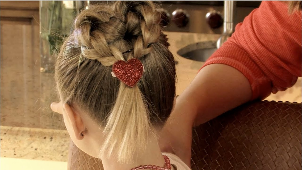 Braided Heart Hairstyle   Valentineu0027s Day Hair   YouTube