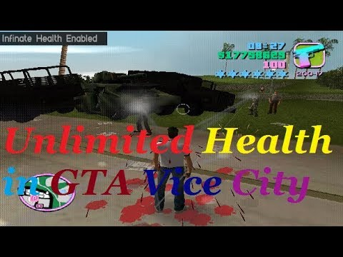 How To Get Unlimited Health In Gta Vice City|AKO Hind Gaming|