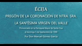 Cover images Pregón Coronación Canónica Virgen del Valle 1999