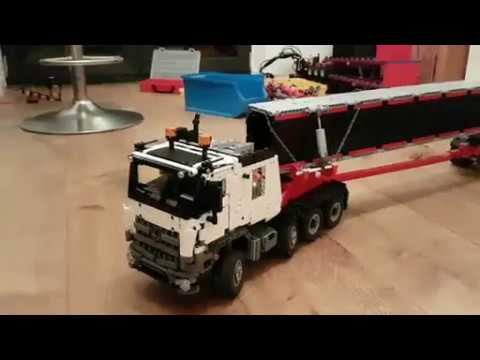 schwertransport mercedes arocs aus lego youtube. Black Bedroom Furniture Sets. Home Design Ideas