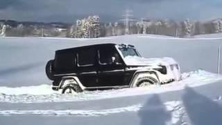 Приколы видео АВТО Еще одно применение Mercedes G500 зимой!!!