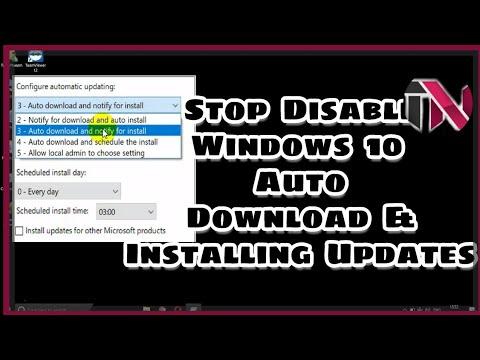auto download off in windows 10