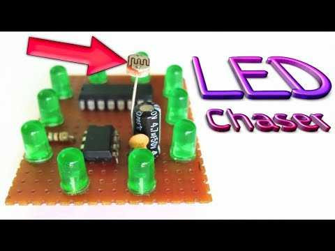 LED Chaser With LDR || Photo Resistor || By Es Tech Knowledge