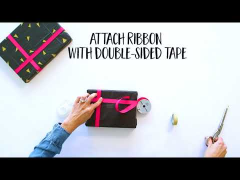 Wrapping Paper DIY: Washi Tape Triangles
