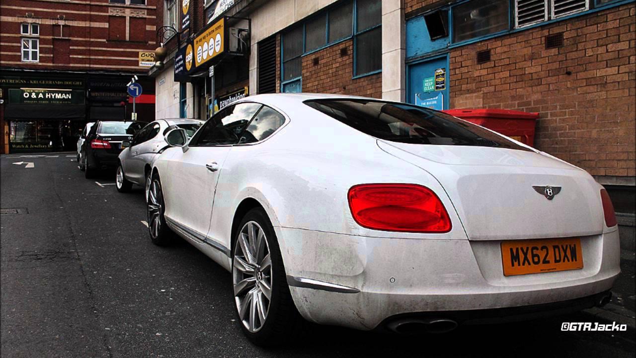 White Bentley Continental Gt V8 Walkaround Youtube