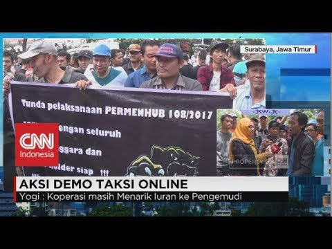 Aksi Demo Taksi Online - Kuota Driver, Stiker &  Uji KIR Dinilai Beratkan Pengemudi