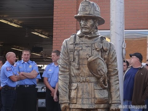 Firefighter Monument Dedication Jamestown ND 2014