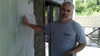 видео Фактурная штукатурка фасада дома