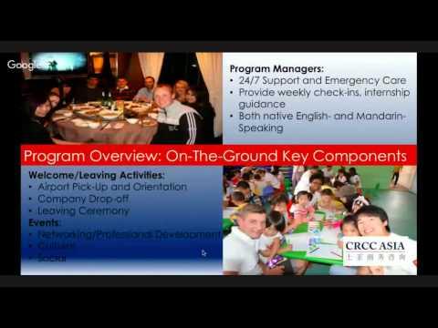 CRCC Asia US/CA: A Parent's Guide to the China Internship Program