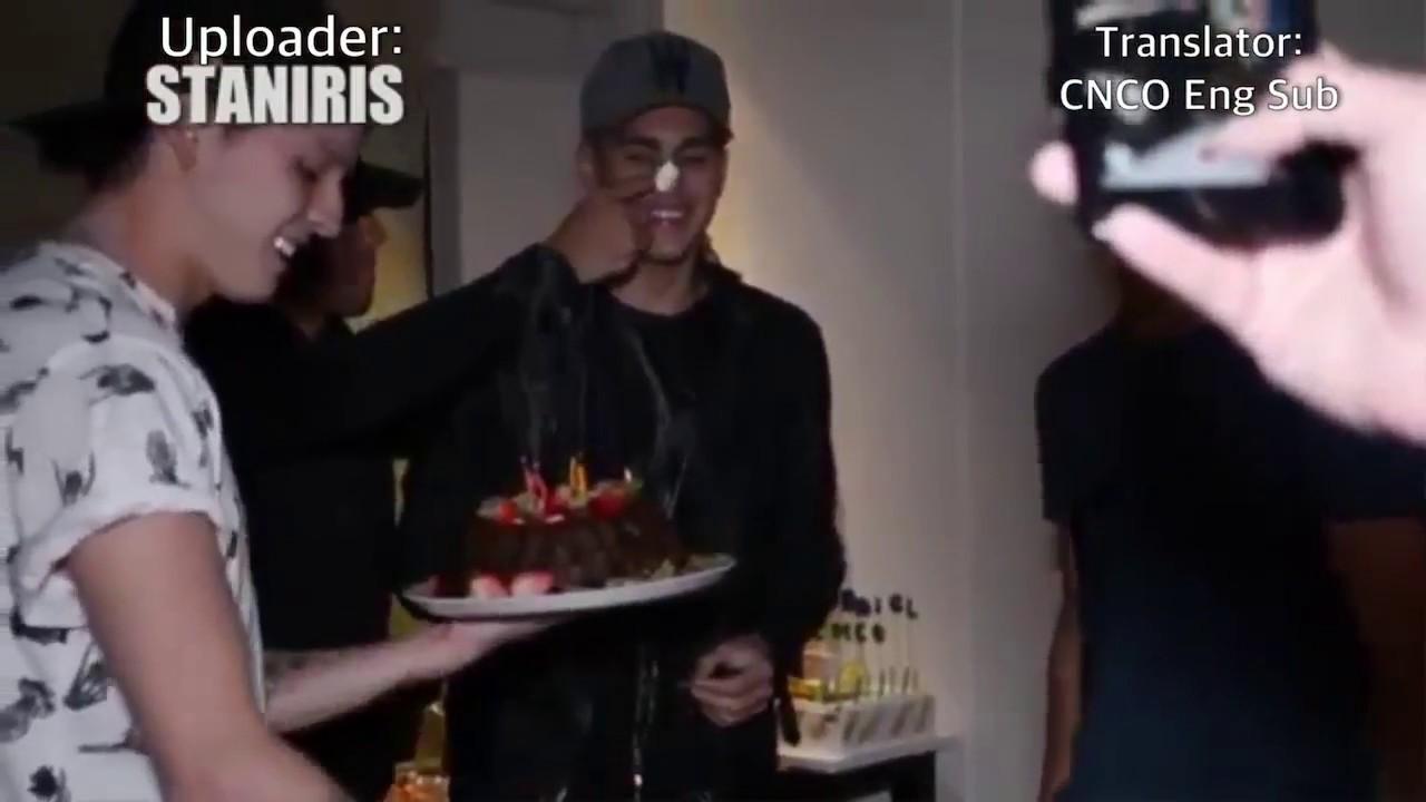 CNCO Celebrating Zabdiel's Birthday (Eng Sub)