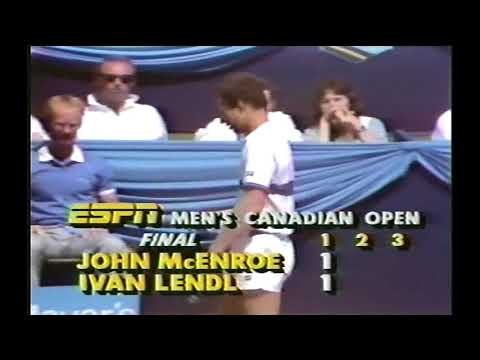John Mcenroe vs Ivan Lendl Final Canadian Open 1985