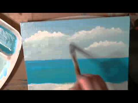 How to Paint a Seascape with Acrylics