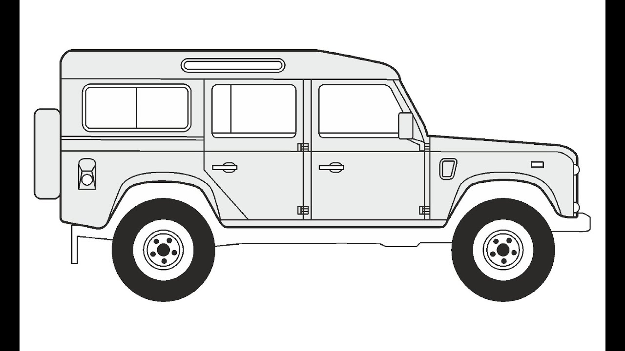 how to draw a land rover defender 110     u041a u0430 u043a  u043d u0430 u0440 u0438 u0441 u043e u0432 u0430 u0442 u044c land rover defender 110
