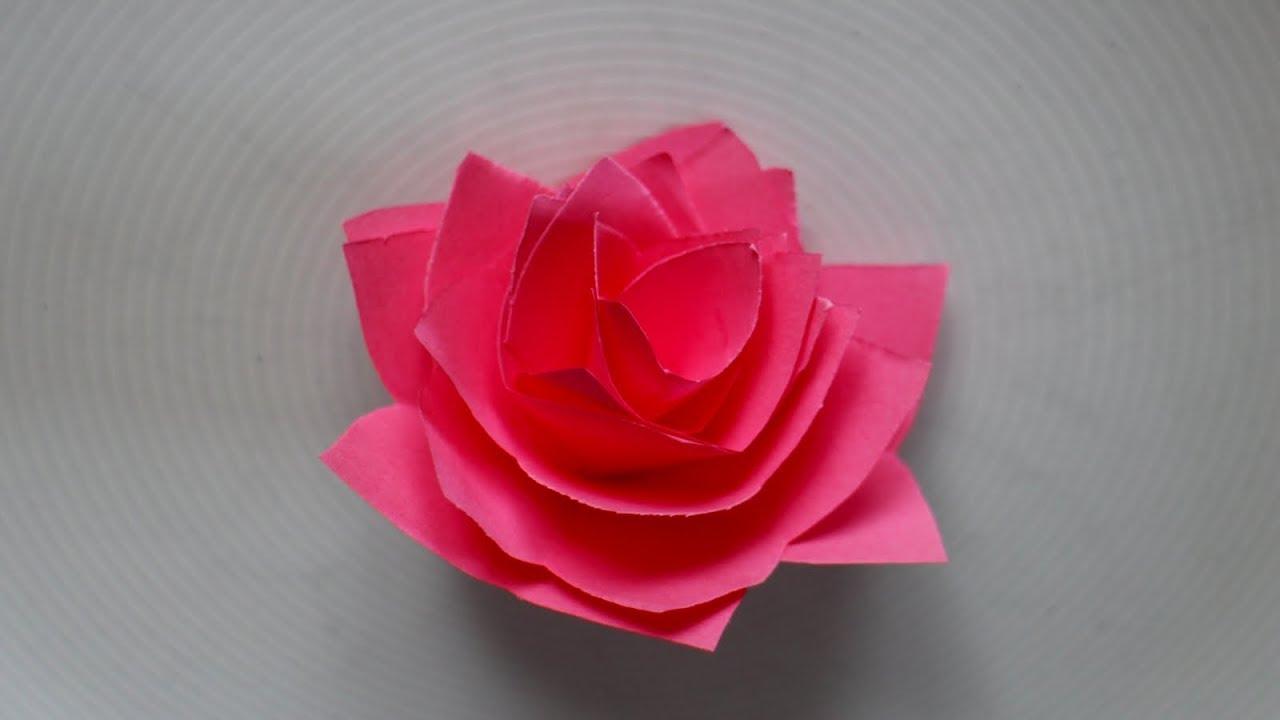 Relativ Basteln mit Papier: 'Rose' Origami falten z.B. für Valentinstag GE19