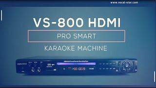 VS-800 Vocal-Star HDMI Karaoke Machine supports Tablet/Phone connection overview