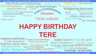 Tere   Languages Idiomas - Happy Birthday