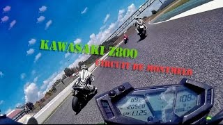 Circuit de Montmelo Onboard Riding Kawasaki z800 - My First Time in Montmeló