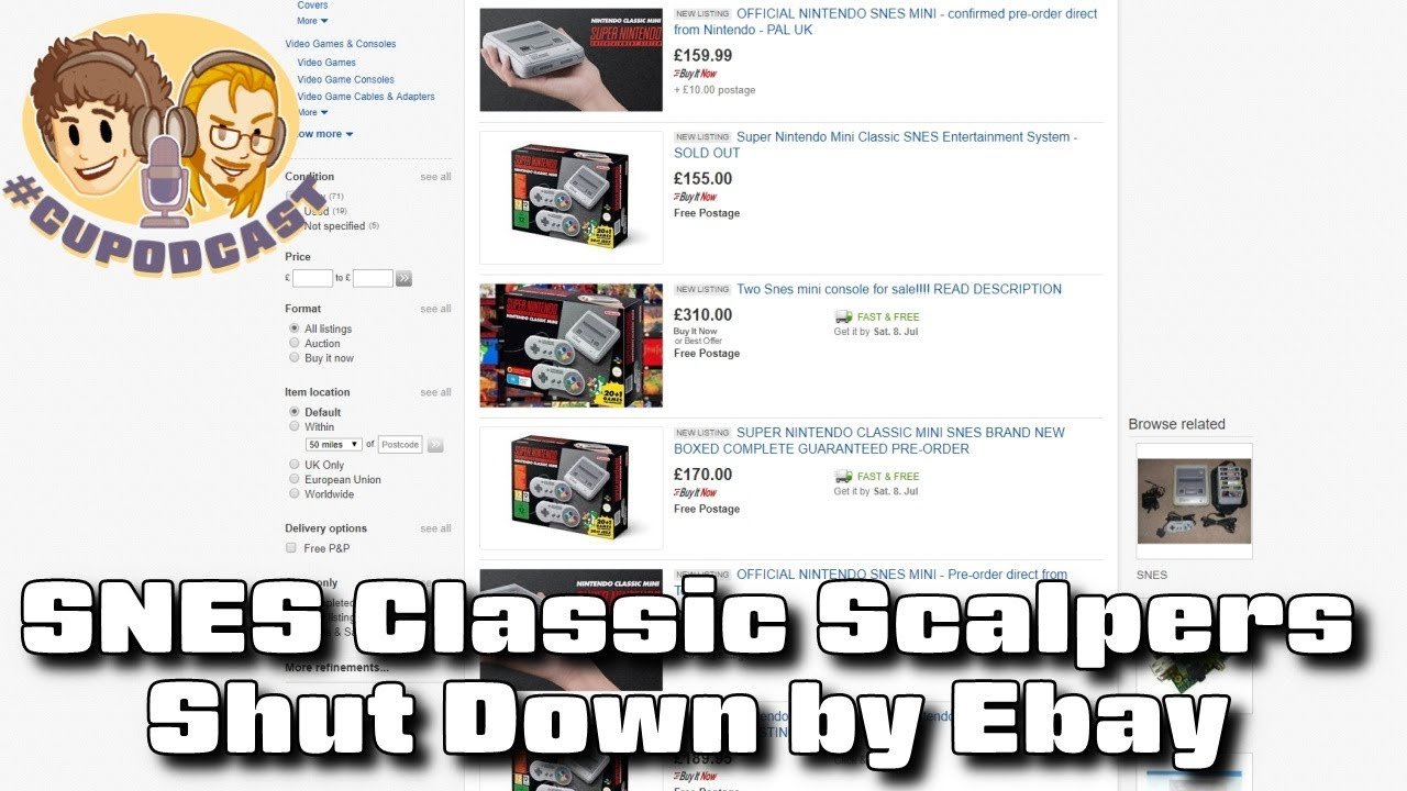 SNES Classic Scalpers Shut Down by Ebay - #CUPodcast