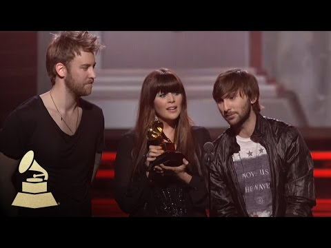 Lady Antebellum accepting the GRAMMY for Song of the Year at the 53rd GRAMMY Awards   GRAMMYs