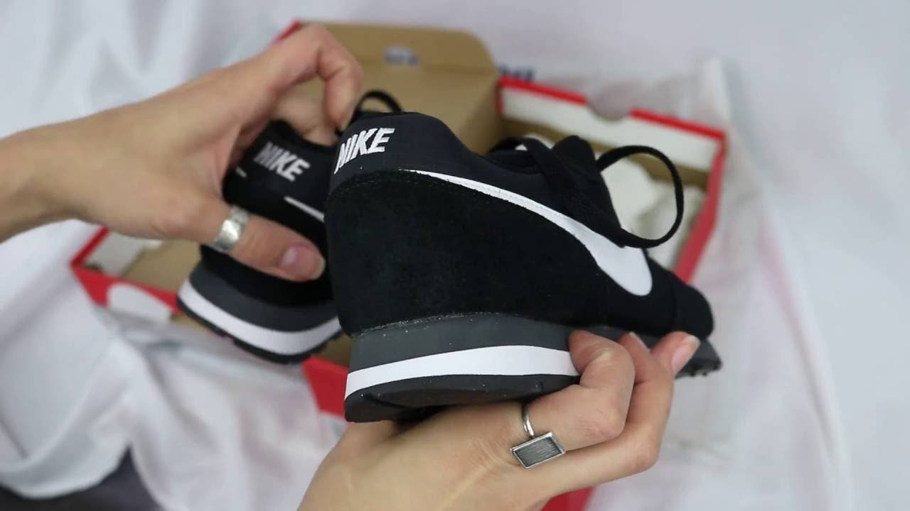 296ffe9a449bb Nike MD Runner II Black   White - Anthracite - review - YouTube