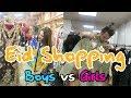 Eid Shopping (Boys vs Girls) | OZZY RAJA