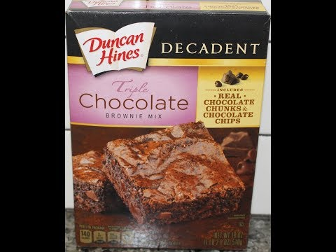 Duncan Hines Decadent Triple Chocolate Brownie Mix Preparation & Review