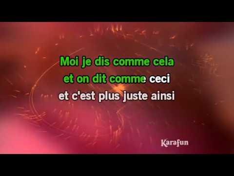 Karaoké La vie à deux - Zaza Fournier *