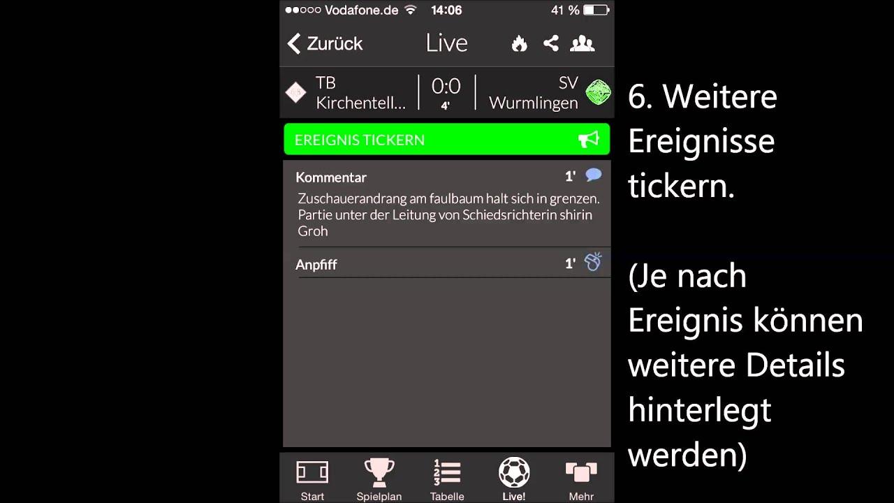 Live Ticker App