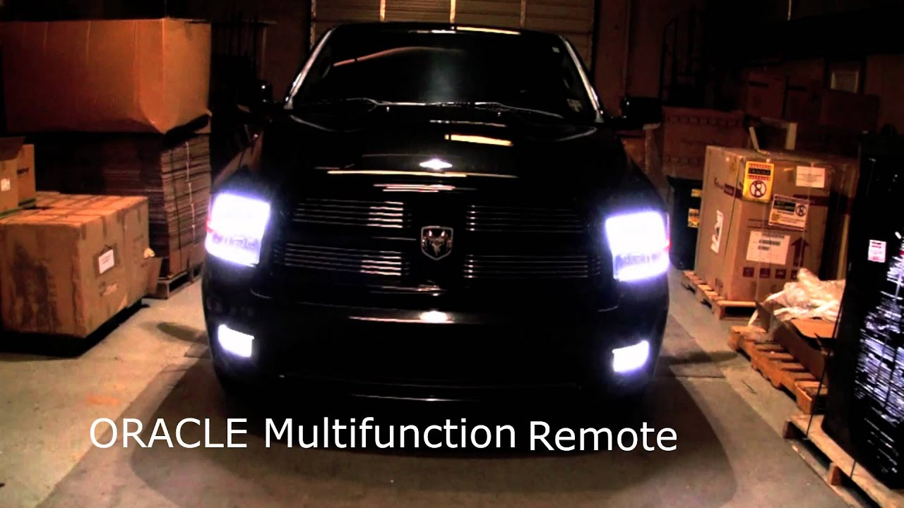 2011 dodge ram sport oracle headlight halo kit youtube. Black Bedroom Furniture Sets. Home Design Ideas