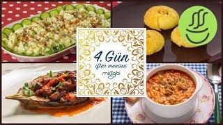 Ramazan 4. Gün İftar Menüsü: Şehriye Çorbası - Patates Salatası - Bostan Kebabı - Şerbetli Tatlı