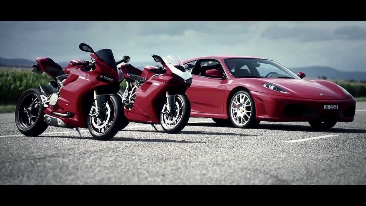 Ferrari F430 Vs Ducati Bike Youtube