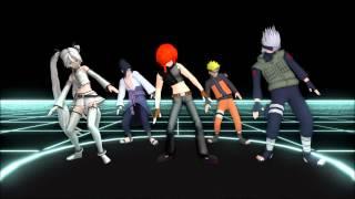 [MMD] Elektrika~Luke, Miku and Naruto characters