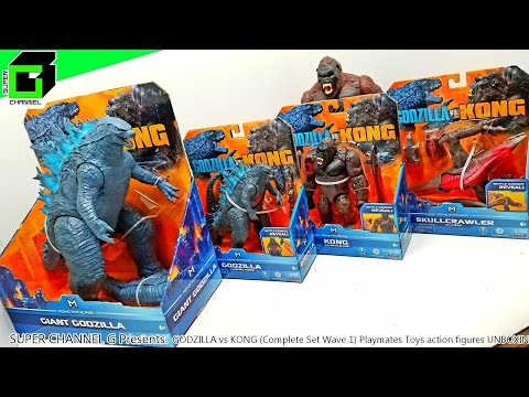 GODZILLA vs KONG (Complete Set Wave 1) action figures UNBOXING and REVIEW!