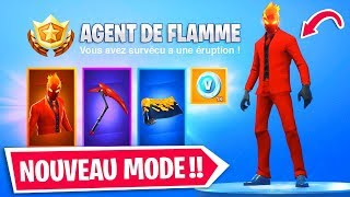NEW DEFIES (SKIN AGENT OF FLAMME) - A MODE OF GAME INDETUrable on FORTNITE