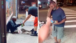 Generous Man Buys Food For The Homeless