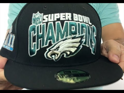 Eagles  SUPER BOWL LII CHAMPS  Black Fitted Hat by New Era - YouTube 61f5174c2