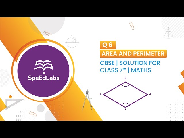 NCERT solutions for class 7th maths - Area and Perimeter Q6