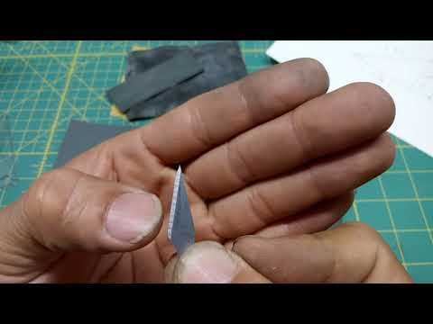DIY tutorial.. How to make a scriber or chisel with an exacto blade